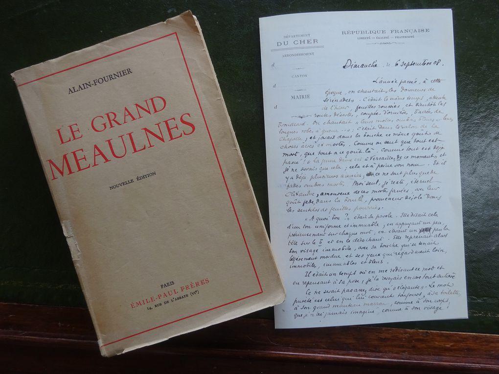Le Grand Meaulnes. Alain Fournier. Emile-Paul Frères. 1913. Lettre du 6 sept. 1908. © Jean-Louis Crimon