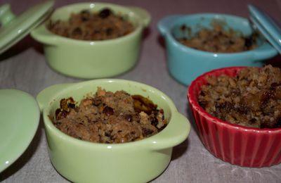 Minis Crumble pommes et chocolat