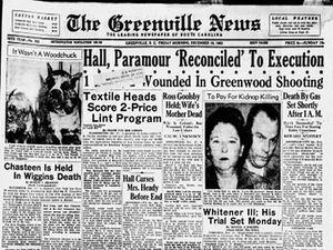 Une du Greenville News du 18 décembre 1953 ; Oconee Bells (Shortia Galacifolia) découvertes par Henri Michaux