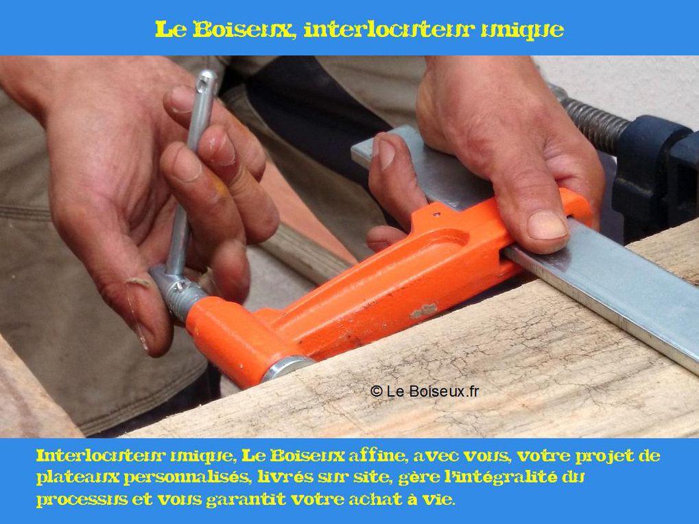 Sur des plateaux qu'il compose planche par planche, Le Boiseux écrit, avec vous, votre légende personnelle, de l'atelier à l'assiette