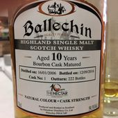Ballechin 10Y '10ème Anniversaire The Nectar' - Passion du Whisky