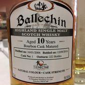 Ballechin 10Y '10ème Anniversaire The Nectar' - Passion du Whisky