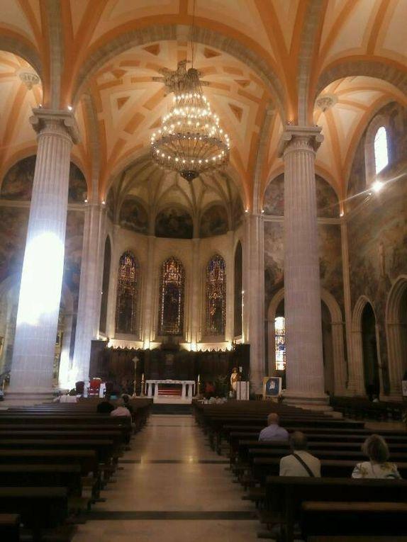 Albacete : très belle cathédrale avec d'immenses fresques à l'italienne.