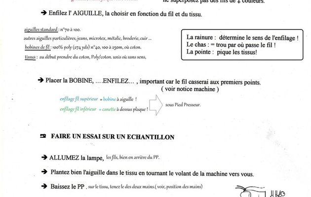 2, La Machine à coudre pour débutants !