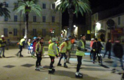 Randonnée urbaine roller à Nîmes avec Clic N Roll, vendredi 17 janvier 2020