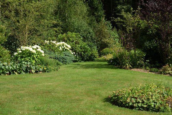 Impressionnant, non ? Claudine, perfectionniste et l'œil perçant, arrive à trouver une mauvaise herbe ici et là mais en fait, ce jadrin est nikel : la pelouse parfaitement tondue et les bordures d'une netteté à faire pâlir d'envie tout jardinier anglais. Pourtant, l'ensemble reste naturel avec un petit zeste de spontanéité.