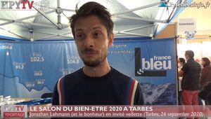 Salon du Bien-Etre :: Jonathan Lhemann en invité vedette à Tarbes (26 sept 20)