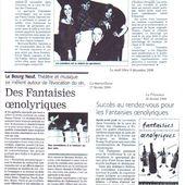 presse: Fantaisies Oenolyriques - Fanny Gioria, metteur en scène