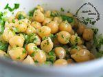 """Salade de pois chiches toute simple : """"Salatet Hummus"""""""