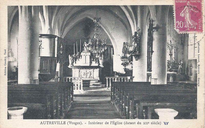 - intérieur des églises vosgiennes -
