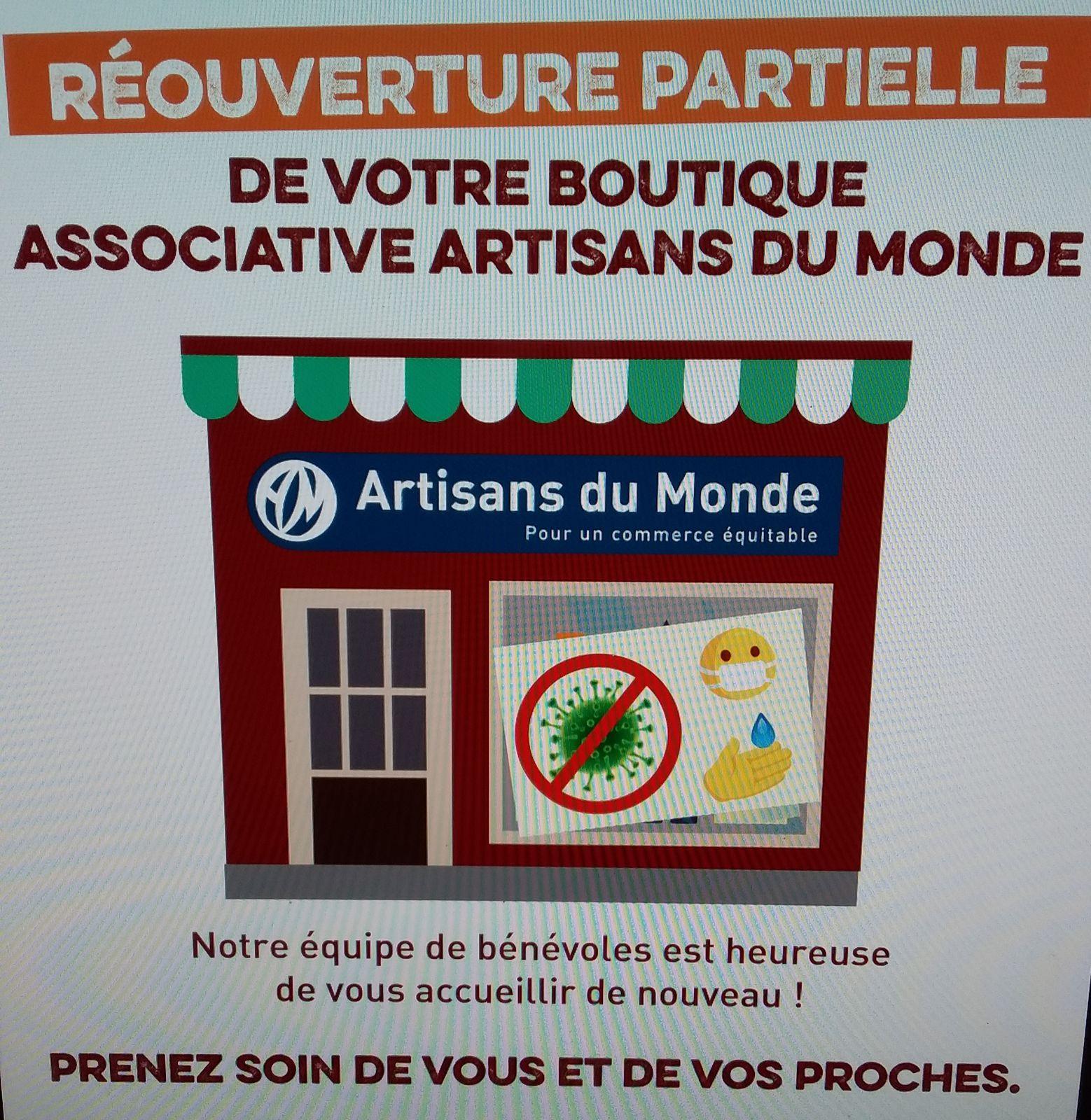 Réouverture partielle de la boutique ADM Tours à partir de mercredi 18 novembre 2020