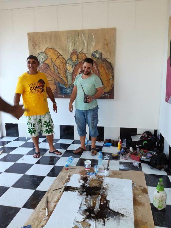 DAR ZAGORA  : AMBIANCE ET ARTISTES AU TRAVAIL MAIS PAS QUE § MERCI RACHID