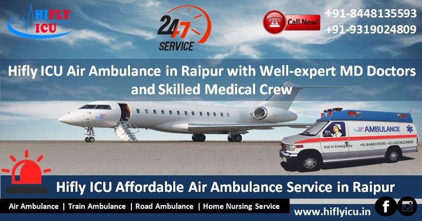 Air Ambulance from Raipur