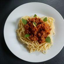 Spaghettis à la viande hachée épicée (inspiration Cyril Lignac) companion ou pas