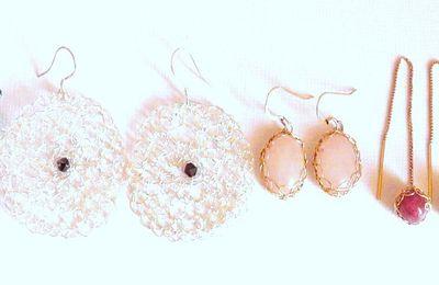 Wire crochet jewelry French handmade by Dekalyna