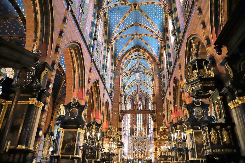 Basilique Notre Dame Cracovie Pologne