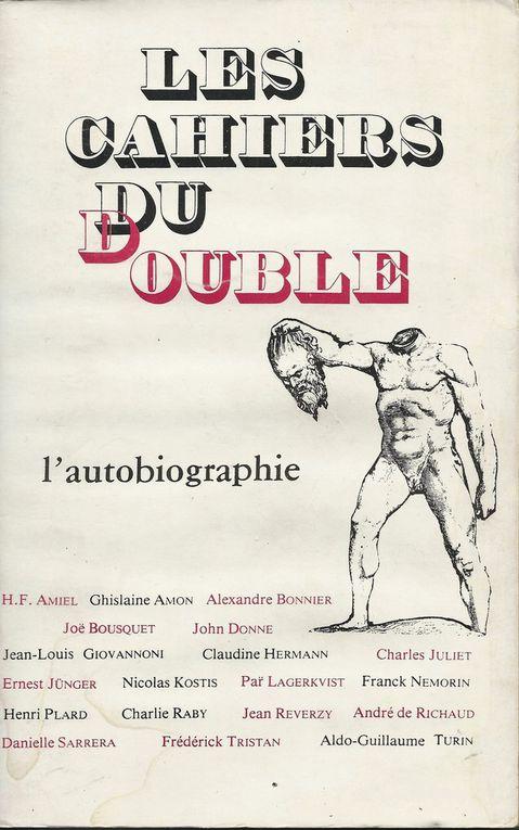 """Les Cahiers du double N°6 - """" L'Autobiographie"""" - 1981"""