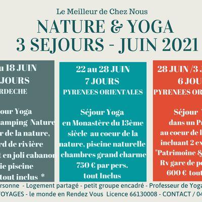 SEJOURS LE MEILLEUR DE CHEZ NOUS - NATURE ET YOGA en 2021