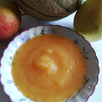 compote melon pomme et poire