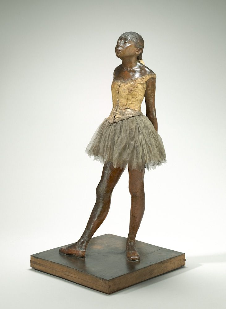 La Petite danseuse de quatorze ans. 1865-1881, cire originale conservée à la National Gallery of Art de Washington, collection Mellon. Tutu en tulle, ruban de satin, 98 x 35,2 x 24,5 cm. Washington, National Gallery of Art © DR