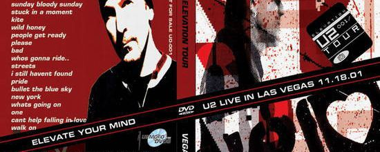 U2 -Elevation Tour -18/11/2001 -Las Vegas USA -Thomas And Mack Arena