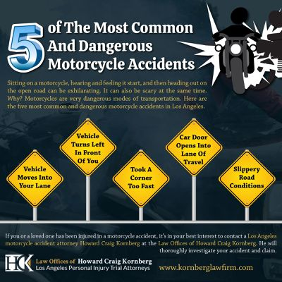 Some Of The Most Common And Dangerous Motorcycle Accidents