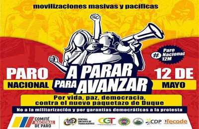 Manifestation de masse aujourdhui à Bogota