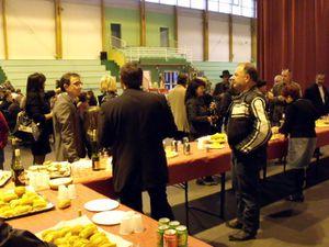 Vernissage de la 3ème exposition de peintures et sculptures à Algrange, en 2011