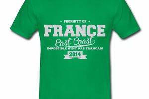 T shirt France East Coast Property HVR