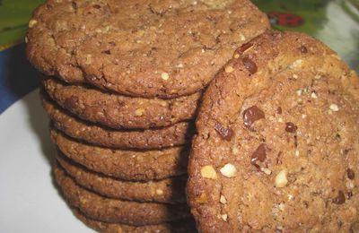 Cookies choco-noix-amandes (Cookies des géants)