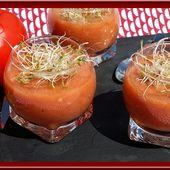 Soupe de Tomates, Basilic, ail et vinaigre balsamique - Oh, la gourmande..