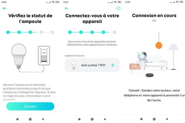 fonctionnement de l'ampoule connecté E27 compatible commande vocale eufy Lumos Smart Bulb @ Tests et Bons Plans