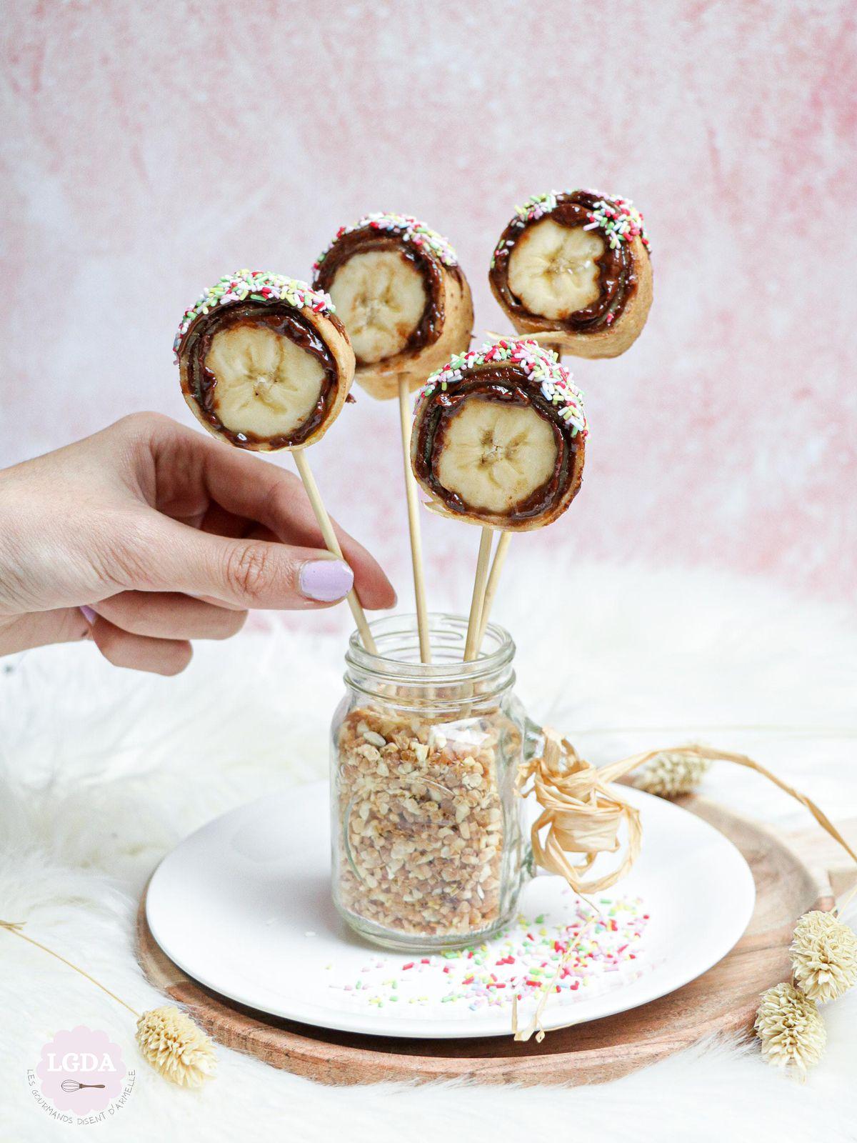 Crêpes en sucette banane et pâte à tartiner © Les Gourmands {disent} d'Armelle
