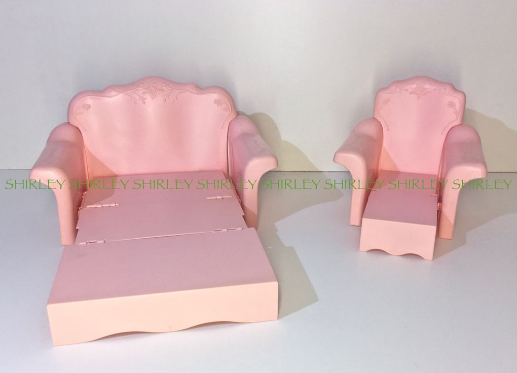 SOFA BED & CHAIR LOUNGER Sweet Roses 1987