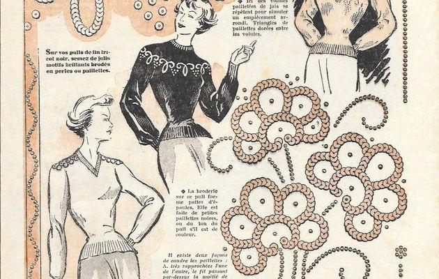 customisation : Paillettes et perles brodées