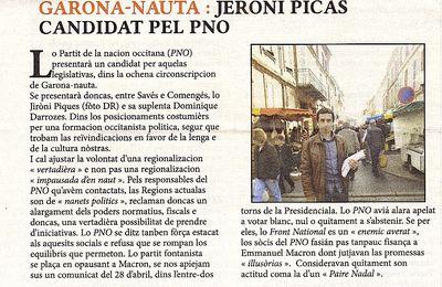 La langue occitane dans les élections législatives 2017