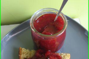 Confiture de prunes quetches à la cannelle et agar agar