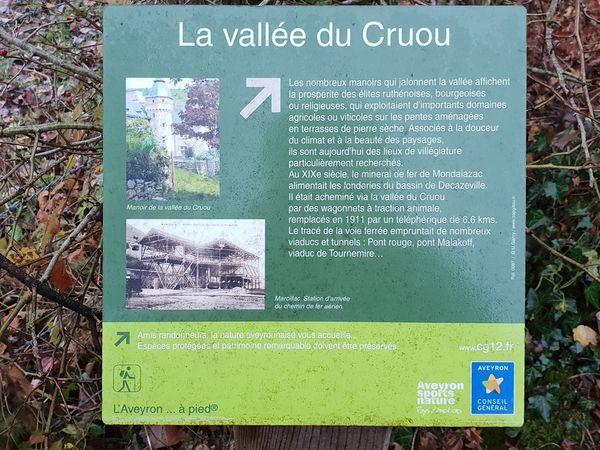 Au départ du village, le sentier surplombe le château du Colombier,