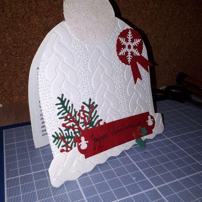 Carte Bonnet de Noël