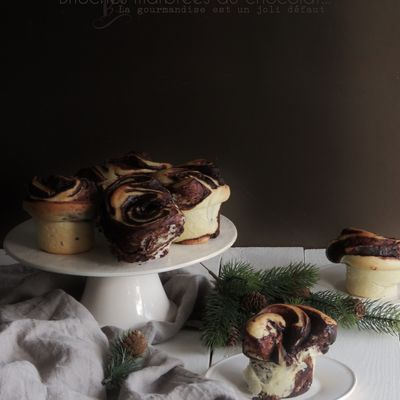 Brioches marbrées au chocolat