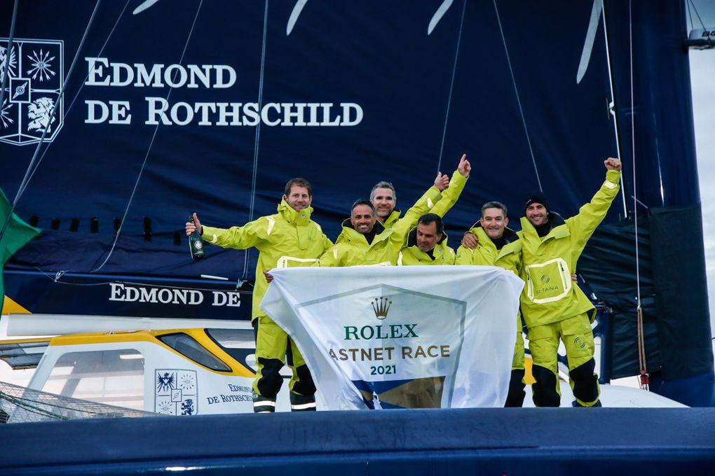 Cammas et Caudrelier, vainqueurs de la Fastnet 2021 et nouveau détenteurs du record de vitesse de l'épreuve