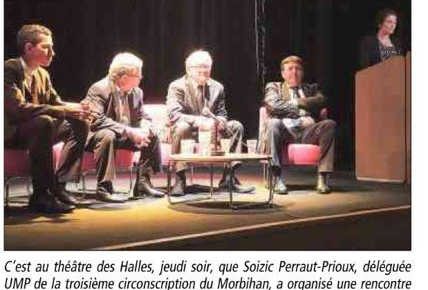 UMP Morbihan - François Goulard à la rencontre des Pontivyens - Le télégramme du 9 Juillet 2013