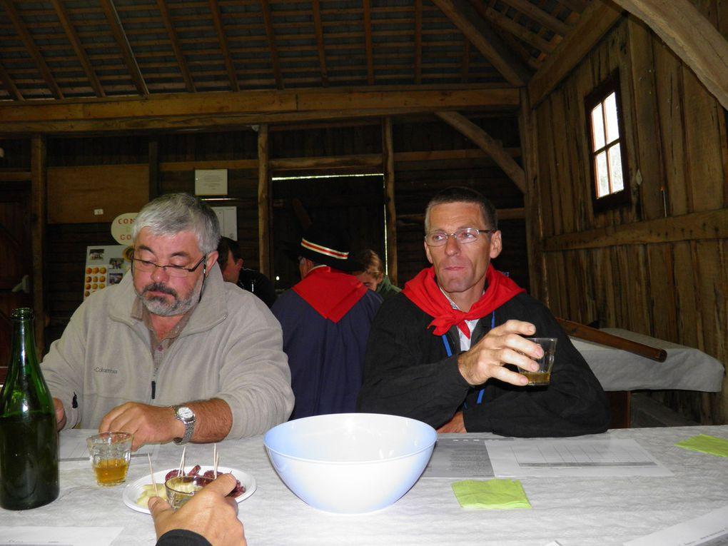 La dégustation du 12 juin 2010 et le repas qui a suivi dans les gites de Sainte-Anne de Champfrémont.