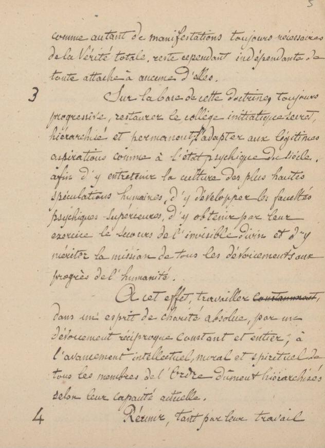 But de l'Ordre Kabbalistique de la Rose-Croix. Document manuscrit inédit.