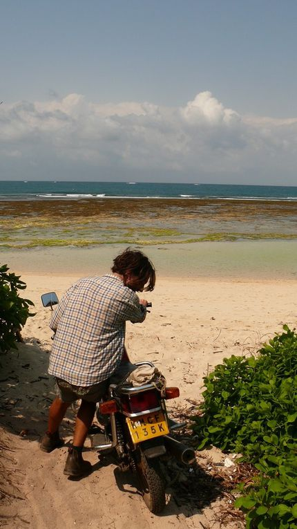 Some photos of the lifestyle on the Kenyan coast... We were forced to eat crayfish, read all day in hamacs, drink rhum in coconuts, ride motorbikes in the sand at sunset, play guitare with three naughty little boys... We barely survived!