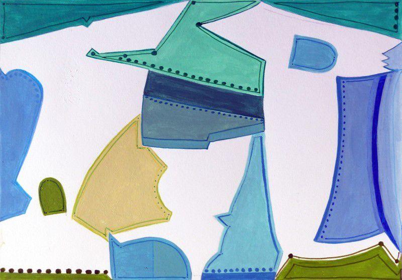 Acryliques sur papier 2019 - 35 x 50 cm et 15 x 20 cm
