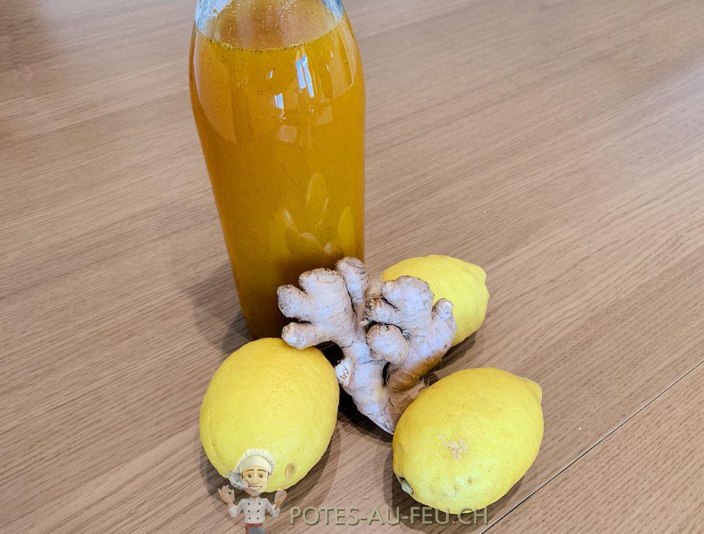 Sirop de Citron, Gingembre et Curcuma
