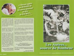 """""""Les autres... source de bonheur"""", un livre d'Annick Nédélec."""