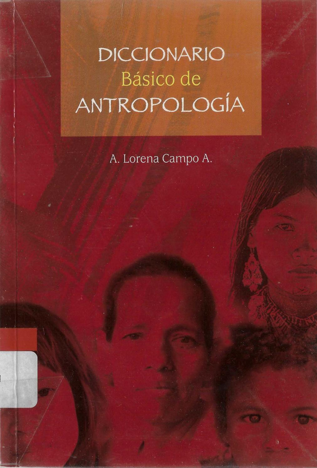 Diccionario básico de antropología.