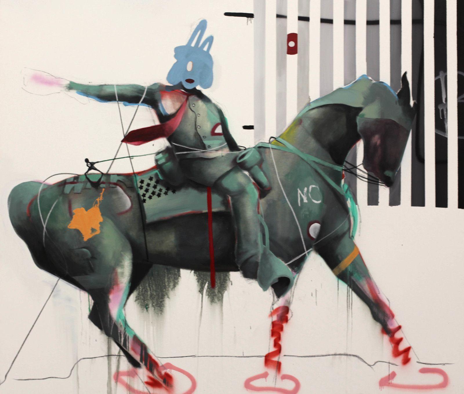 """""""David and Goliath"""", 2020 de Marcus JANSEN - Courtesy de l'artiste et de la Galerie Almine RECH © Photo Éric Simon"""